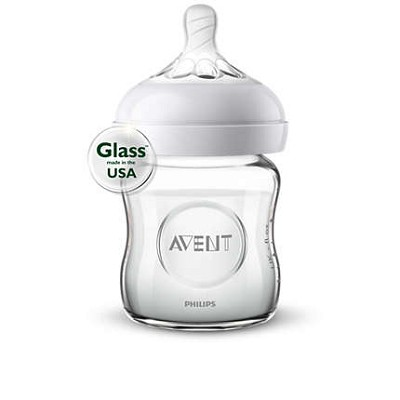 Avent Natural Glass Bottle 4 oz, 1 Pack