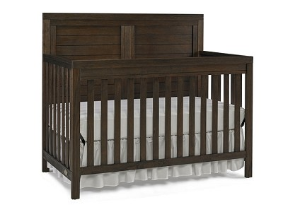 Ti Amo  Castello Full Panel Crib Wire Brushed Brown