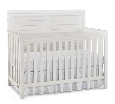 Ti Amo  Castello Full Panel Crib Wire Brushed Seashell White