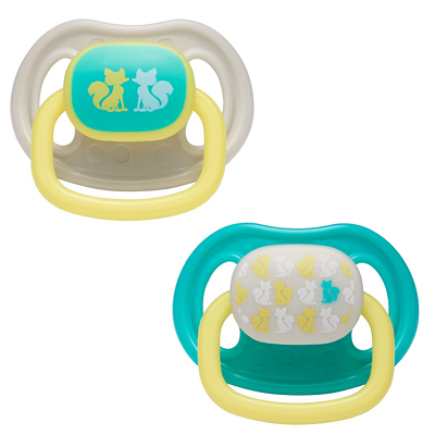 First Years 2-Pack Newborn Ortho Pacifier 0-3 Months-Neutral Animal Design