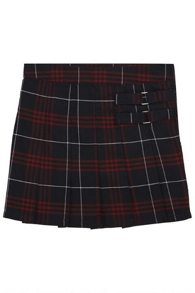French Toast 50% Off School Uniform  Plaid Two-Tab Scooter, Black-Red