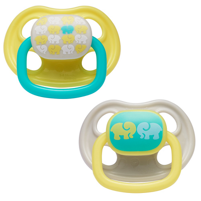 First Years 2-Pack Newborn Ortho Pacifier 3-6 Months-Neutral Animal Design